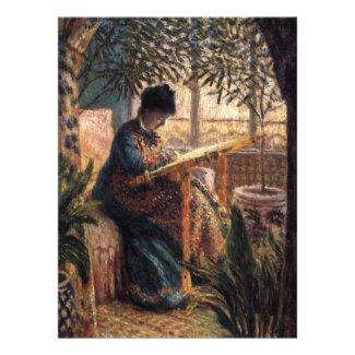 Claude Monet: Madame Monet Embroidering Announcement