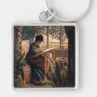 Claude Monet: Madame Monet Embroidering Keychain