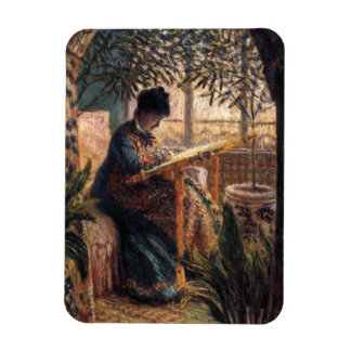Claude Monet: Madame Monet Embroidering Magnet
