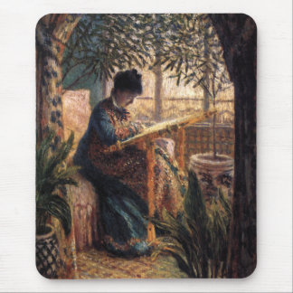 Claude Monet: Madame Monet Embroidering Mouse Pad