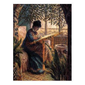 Claude Monet: Madame Monet Embroidering Postcard