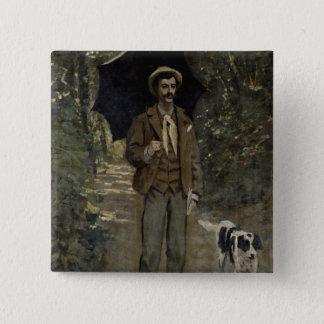 Claude Monet | Man with an Umbrella, c.1868-69 Pinback Button