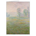 Claude Monet   Meadows in Giverny, 1888 Card