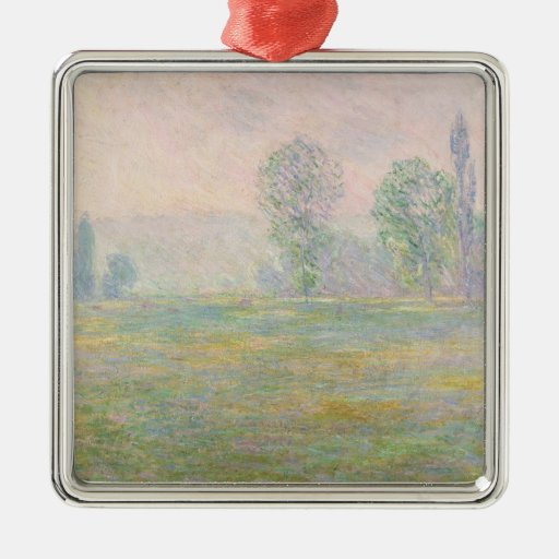 Claude Monet   Meadows in Giverny, 1888 Metal Ornament