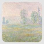 Claude Monet   Meadows in Giverny, 1888 Square Sticker