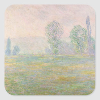 Claude Monet | Meadows in Giverny, 1888 Square Sticker