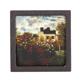 Claude Monet-Monet's Garden at Argenteuil Keepsake Box