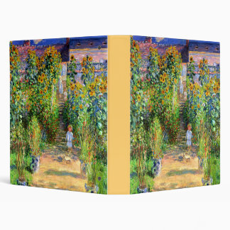 Claude Monet: Monet's Garden at Vétheuil 3 Ring Binder