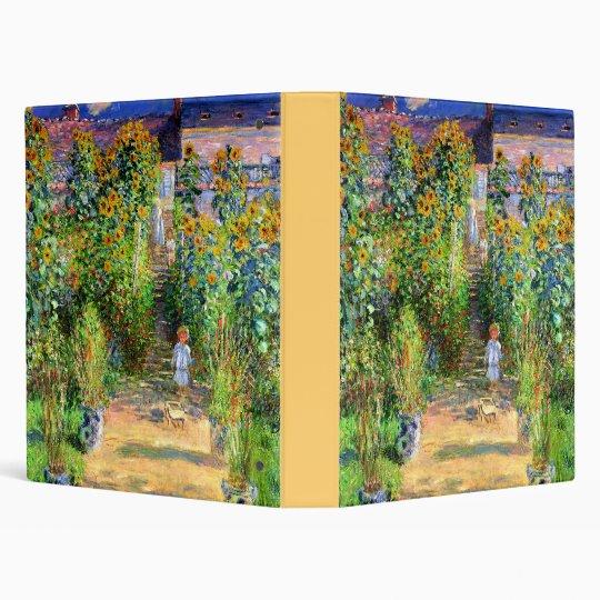 Claude Monet: Monet's Garden at Vétheuil 3 Ring Binder
