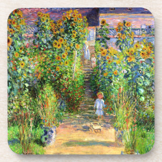Claude Monet: Monet's Garden at Vétheuil Beverage Coaster