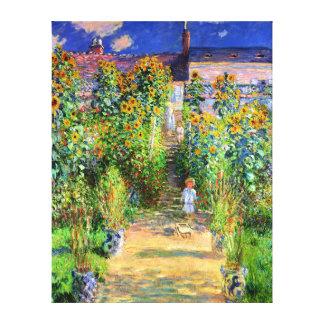 Claude Monet: Monet's Garden at Vétheuil Canvas Print