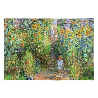 Claude Monet: Monet's Garden at Vétheuil Cloth Placemat