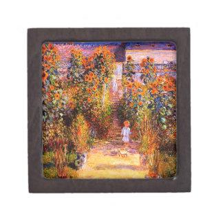 Claude Monet-Monet's Garden at Vétheuil Keepsake Box