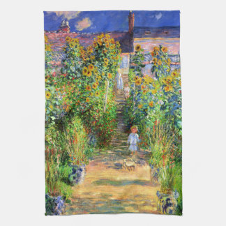 Claude Monet: Monet's Garden at Vétheuil Kitchen Towel