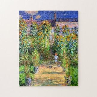 Claude Monet: Monet's Garden at Vétheuil Jigsaw Puzzles