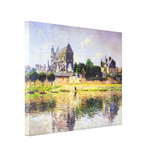Claude Monet - Monets garden in Vetheuil Canvas Print