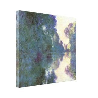 Claude Monet - Morning on the Seine at Giverny Canvas Print