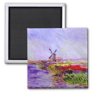 Claude Monet - moulin Refrigerator Magnets