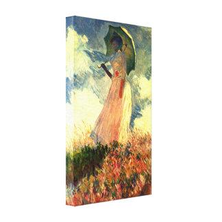 Claude Monet - mujer con la sombrilla Impresión En Lienzo