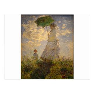 Claude Monet: Mujer con un parasol, 1875 Postal