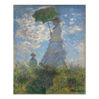 Claude Monet - mujer con un parasol Arte Con Fotos