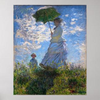 Claude Monet: Mujer con un parasol Impresiones