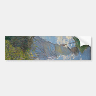 Claude Monet - mujer con un parasol Pegatina Para Auto