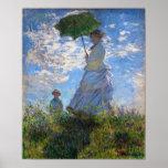 Claude Monet: Mujer con un parasol Póster