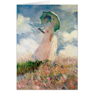 Claude Monet - mujer con un parasol Tarjeta De Felicitación