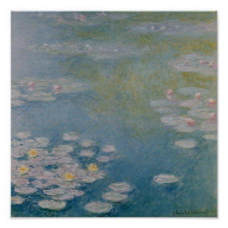 Claude Monet | Nympheas at Giverny, 1908 Poster