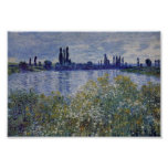 Claude Monet - On the bank of Seine at Vetheuil Posters