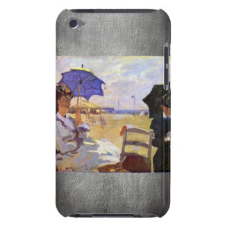Claude Monet - On the beach at Trouville iPod Touch Cover