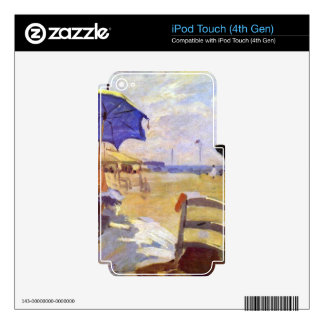 Claude Monet - On the beach at Trouville Skins For iPod Touch 4G