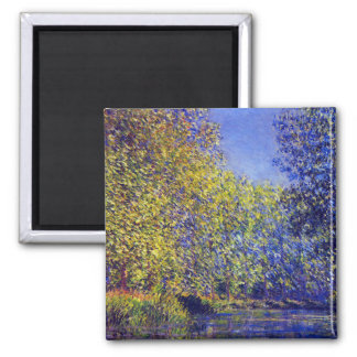 Claude Monet painting bend in Epte near Giverny Magnet