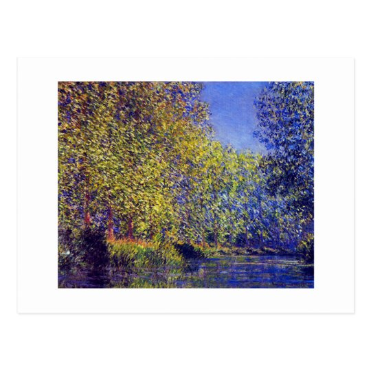 Claude Monet painting bend in Epte near Giverny Postcard