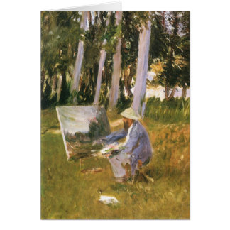 Claude Monet Painting, Edge of a Wood by Sargent Card