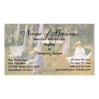 Claude Monet Painting, Edge of a Wood  by Sargent Double-Sided Standard Business Cards (Pack Of 100)