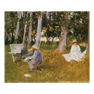 Claude Monet Painting, Edge of a Wood by Sargent Poster