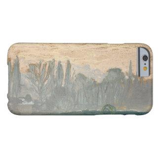 Claude Monet - paisaje del invierno con el cielo Funda De iPhone 6 Barely There