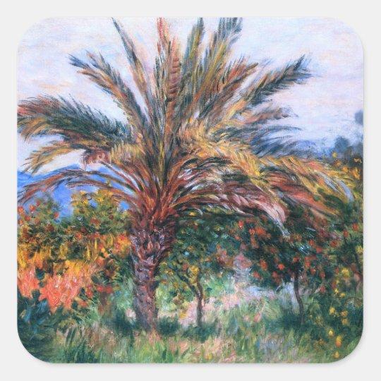Claude Monet: Palm Tree at Bordighera Square Sticker