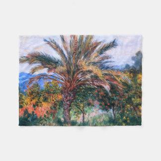 Claude Monet: Palmera en Bordighera Manta De Forro Polar