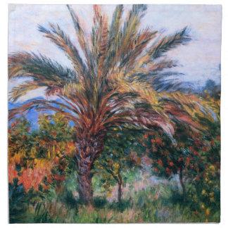 Claude Monet Palmera en Bordighera Servilleta Imprimida