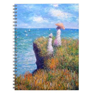 Claude Monet: Paseo del acantilado en Pourville Libro De Apuntes