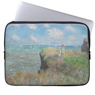 Claude Monet - paseo del acantilado en Pourville Funda Computadora