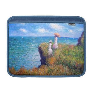 Claude Monet: Paseo del acantilado en Pourville Fundas Para Macbook Air