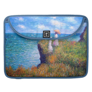 Claude Monet: Paseo del acantilado en Pourville Fundas Macbook Pro