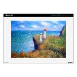Claude Monet: Paseo del acantilado en Pourville Portátil Calcomanías