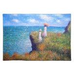 Claude Monet: Paseo del acantilado en Pourville Mantel Individual