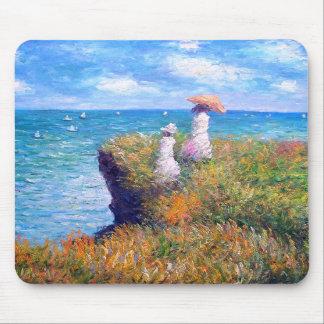 Claude Monet: Paseo del acantilado en Pourville Alfombrillas De Raton