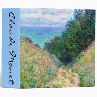 Claude Monet: Path at La Cavee Pourville 3 Ring Binder